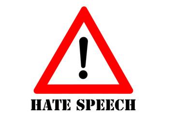 Hate speech warning