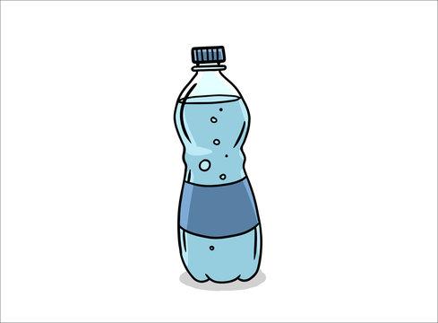 comic book style cartoon water bottle