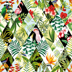 Wall Mural - Exotic seamless pattern, patchwork