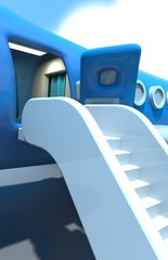 Airplane entrance and staircase