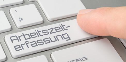 Tastatur mit beschrifteter Taste - Arbeitszeiterfassung