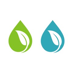 Natural Drop Water Spa Logo Template