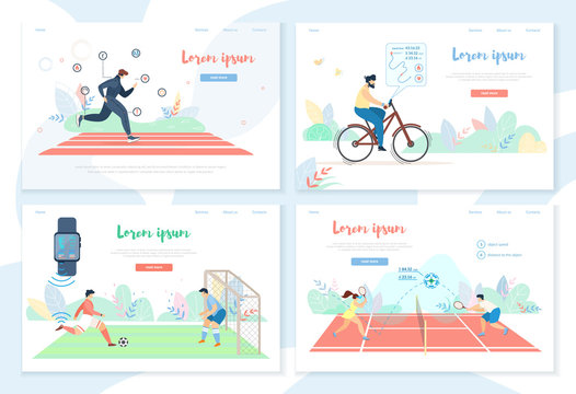 People Doing Sports Activity with Smart Gadgets