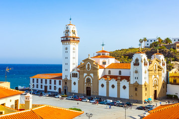 Photo sur Toile Iles Canaries beautiful Basilica de Candelaria church in Tenerife, Canary Islands, Spain