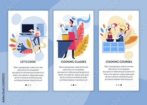 Cooking classes and online courses web pages templates