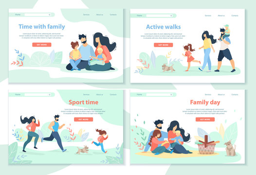 Family Day, Leisure, Sport Time, Active Walks
