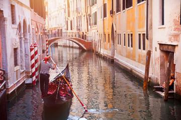 Keuken foto achterwand Gondolas Gondolas of Venice