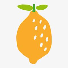 lemon vector paper cut style  icon
