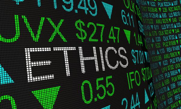 Ethics Business Morals Responsibility Stock Market Investing 3d Illustration