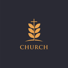 Church logo and Leaf Tree, nature church design inspiration