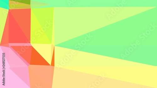 Khaki Pastel Red And Light Green Color Geometric Triangle