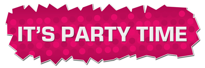 Its Party Time Pink Dots Background Cutout Horizontal