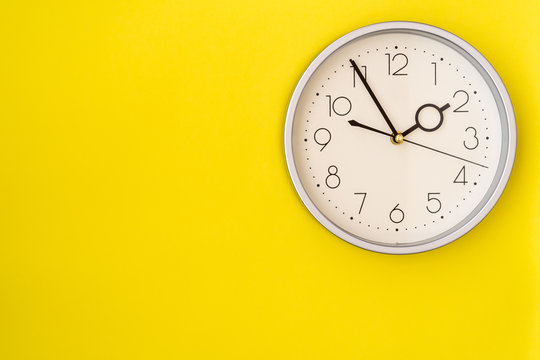 Clock on the yellow wall