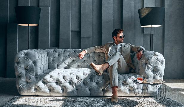 Stylish man at home