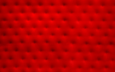 Red upholstery with buttons forming a background