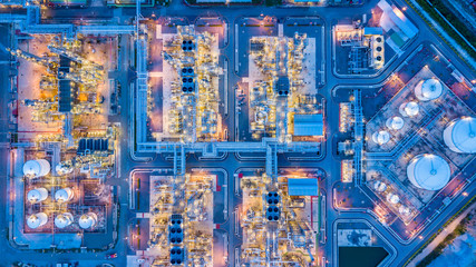 Top view of oil refinery Fototapete