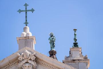 details of the Basilica della Santa Casa in Italy Marche