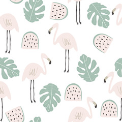 Cute flamingo print