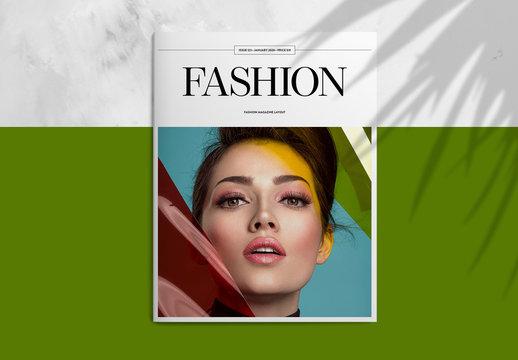 Minimalist Fashion Magazine Layout with Black and White Scheme
