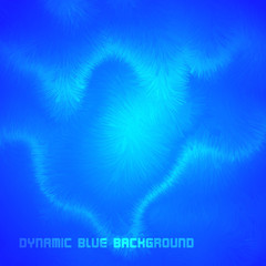Abstract Blue Dynamic Vector Background
