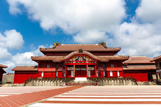 The Shuri Castle, Naha , Okinawa, Japan. One of the famouse castle in Okinawa.
