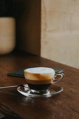 Coffee with hot chocolate