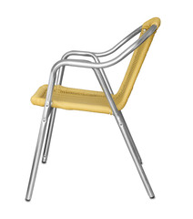 Side view of aluminum chair