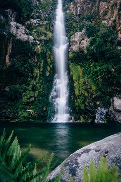 Scenic mountain waterfall