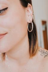 Women's earring detail