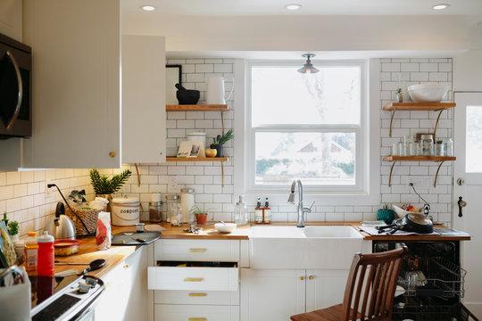 Messy modern kitchen