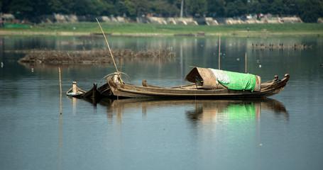 Fisherman's house boat, Myanmar