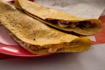 Traditional Quesadilla in Mexico City