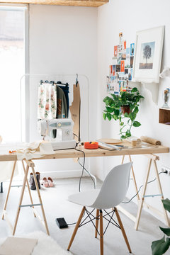 Room in stylish tailor studio