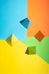 Multi-Coloured shapes on a multi-coloured background (1)