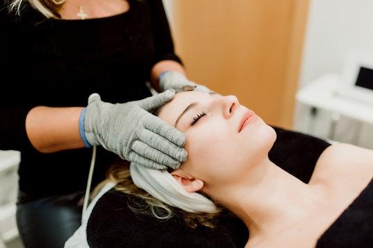 Skin treatment at center