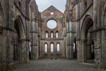 ruins of the church in Tuscany