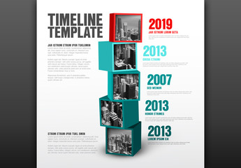 Stacked Cubes Timeline Layout