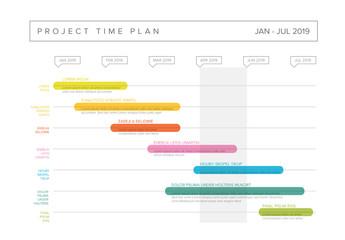 Colorful Gantt Chart Layout