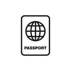 Passport icon. International passport line icon. Travel and vacations symbol illustration