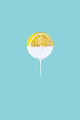 Lemon Dripping with Paint