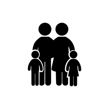family simple icon on the white background