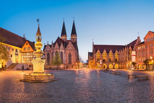 Market square in Brunswick (Braunschweig), Germany