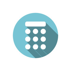 Keypad Icon. Professional looking dial pad for mobile and web design. Call number. Numeric keypad