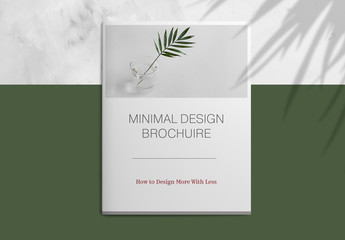 Minimalist Brochure Layout with Maroon Accents