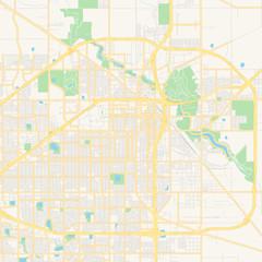 Empty vector map of Lubbock, Texas, USA
