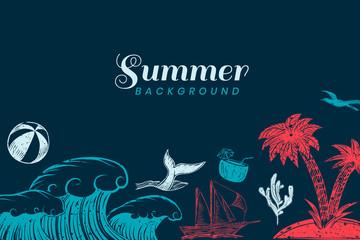 Dark blue summer background