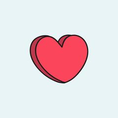Cute heart design