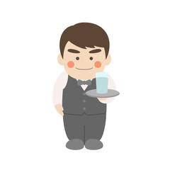 男性キャラクターウェイター