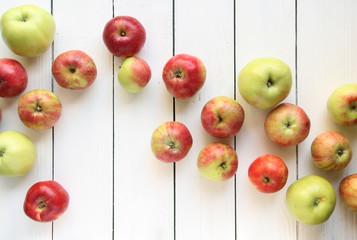 Apfel Äpfel Hintergrund Welle Tisch Brett