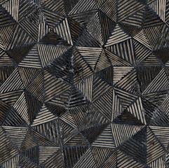 Geometria nowoczesny wzór powtarzalny z teksturami - 268270960